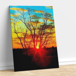 Beautiful Abstract Art with Sunset
