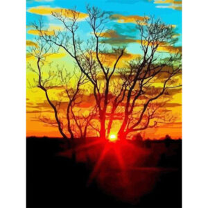 Beautiful Abstract Beautiful Abstract Art with Sunset