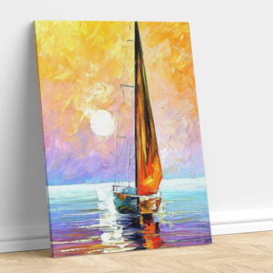 Abstract Boat in Yellow Cloud