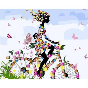 Girl on the Cycle - Mosaic