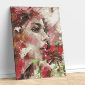 Girl with a Rose Pattern