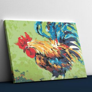 Colorful Abstract Cock