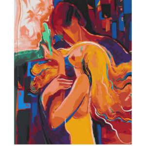 Abstract Romantic couple