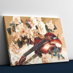 Beautiful Flowers and Violin