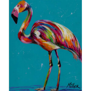 Abstract Greater flamingo
